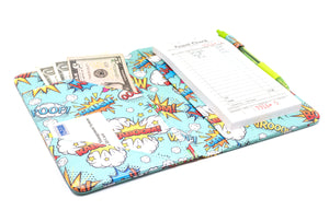 "SERVER BOOK™ Patterns 8"" x 5"" Server Organizer - Comic Book Superheroes!"