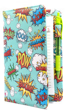 "Load image into Gallery viewer, SERVER BOOK™ Patterns 8"" x 5"" Server Organizer - Comic Book Superheroes!"