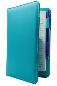 Turquoise Server Book with Purple Pen - Cute Colorful Waitress Organizer