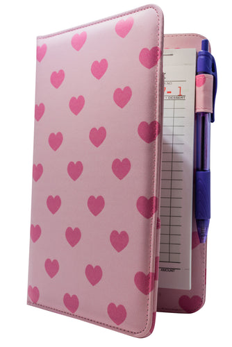 Pink Hearts Server Book from ServerBooks.com - Cute Waitress Order Pad Holder