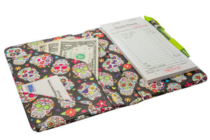 Sugar Skulls SERVER BOOK order pad holder from serverbooks.com