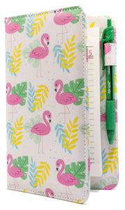 "SERVER BOOK™ Patterns 8"" x 5"" Server Organizer - Pink Flamingo"