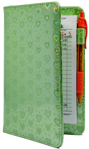 Green Metallic Hearts Server Books