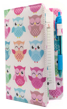 "Load image into Gallery viewer, SERVER BOOK™ Patterns 8"" x 5"" Server Organizer - Pastel Owls"