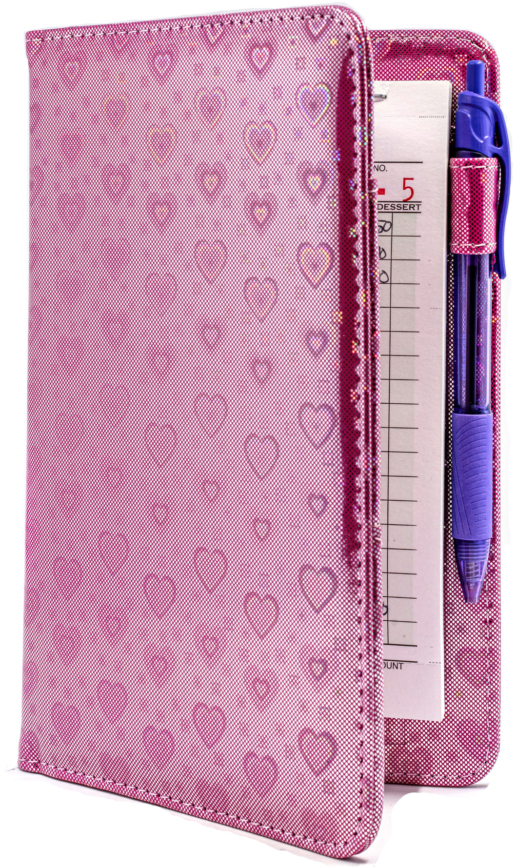 Pink Hearts Server Book from ServerBooks.com