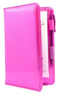 "[SALE] SERVER BOOK™ Metallic Collection 8"" x 5"" Server Organizer - Holographic Pink"