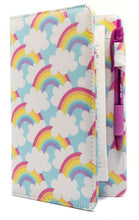 "Load image into Gallery viewer, SERVER BOOK™ Patterns 8"" x 5"" Server Organizer - Blue Sky Rainbows"
