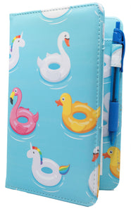 "SERVER BOOK™ Patterns 8"" x 5"" Server Organizer - Summer Pool Floats"