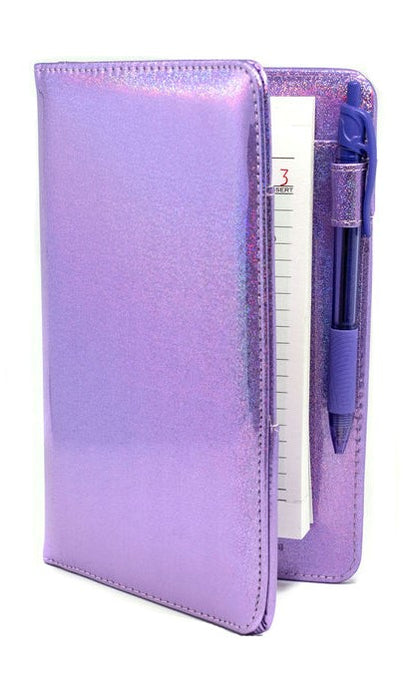 Holographic Purple Server Book - Cute Accessories for Waitresses