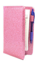 Load image into Gallery viewer, Pink Sparkle Server Book Cute Glitter Waitress Organizer