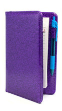 Load image into Gallery viewer, Potion Purple Server Books - Sparkle Glitter Waitress Organizers