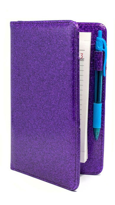 Potion Purple Server Books - Sparkle Glitter Waitress Organizers