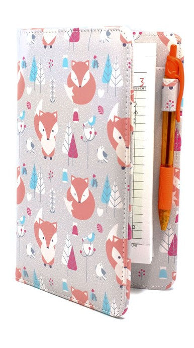 SERVER BOOK™ Winter Snow Fox Pattern Cute Server Book for Waitresses