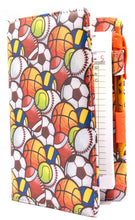 "Load image into Gallery viewer, [CLEARANCE] SERVER BOOK™ Patterns 8"" x 5"" Server Organizer - Sports Balls"