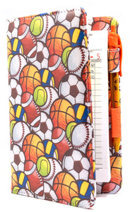 "[CLEARANCE] SERVER BOOK™ Patterns 8"" x 5"" Server Organizer - Sports Balls"