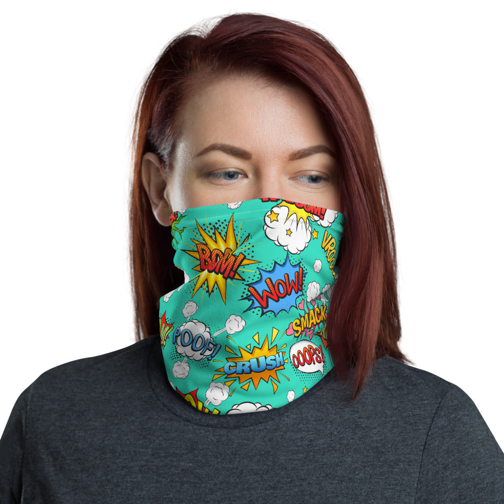 SERVER BOOK™ Neck Gaiter / Face Mask - Comic Book Superheroes!