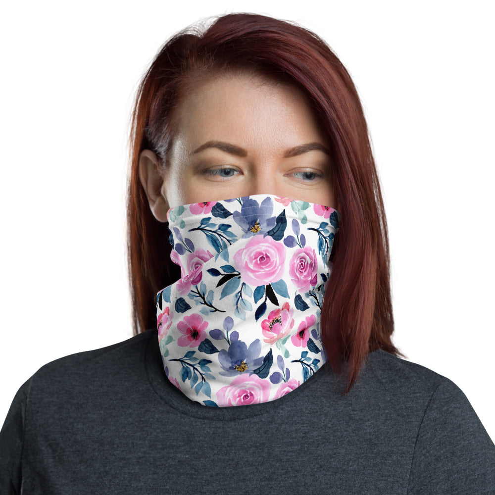 SERVER BOOK™ Neck Gaiter / Face Mask - Watercolor Flowers