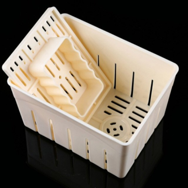 Square Cheese Mould with Lid (great for feta, washed-rind cheese, halloumi, etc.)