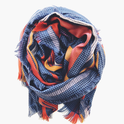 Nicollo Scarf- Blue and Orange