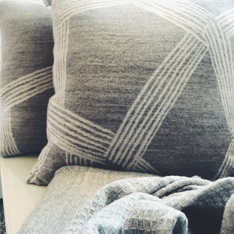 Wool Geometric Pillow