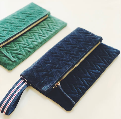 """Pochette"" Clutch Bag - Marine Blue"