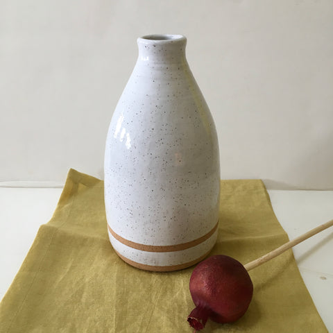Speckled Off-White Vase