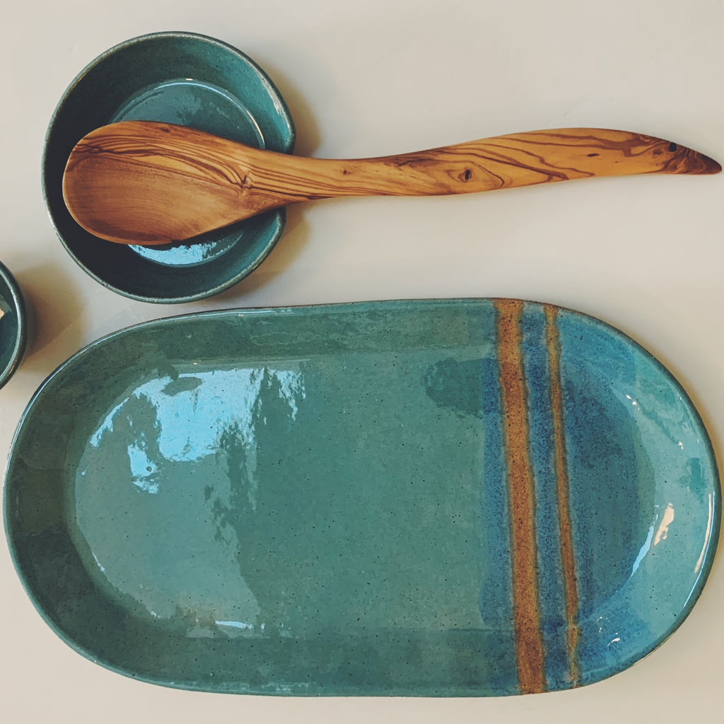 Platter - Blue with Stripe