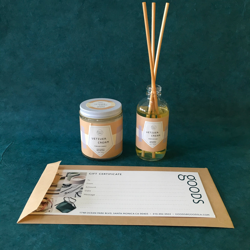 Candle + Diffuser Bundle- Vetiver and Cream