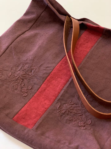 Nothing New - Vintage Dyed Linen Tote Bag
