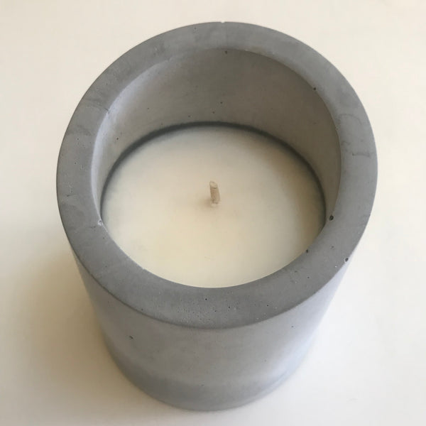 Hand Cast Concrete Candle