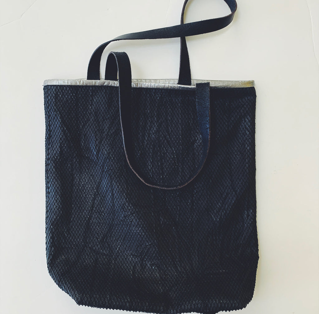Repurposed Leather Tote Bag