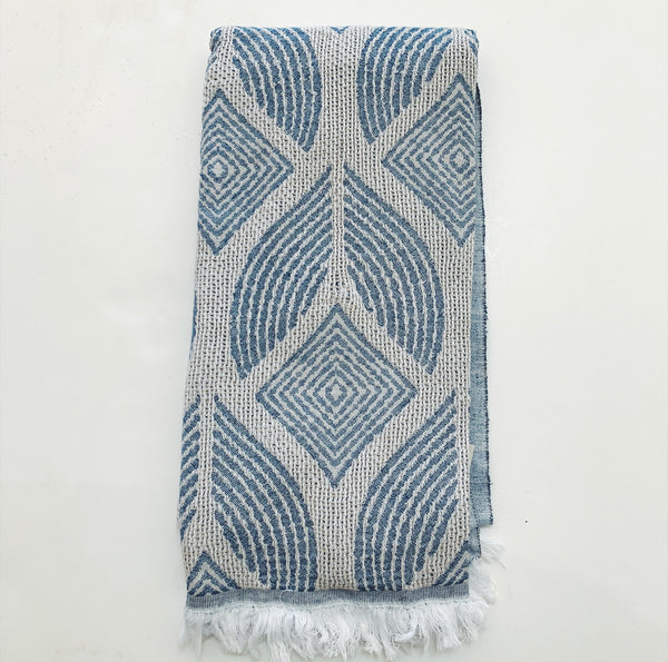 Towel - Blue + Grey Collection
