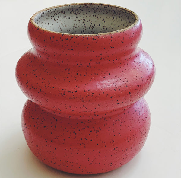 Rock Candy Vase- Watermelon Red