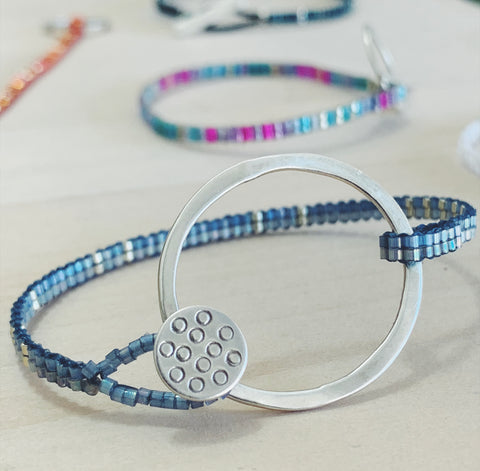 ** FUNDRAISER FOR BEIRUT ** - Glass Bead Bracelet - light blue