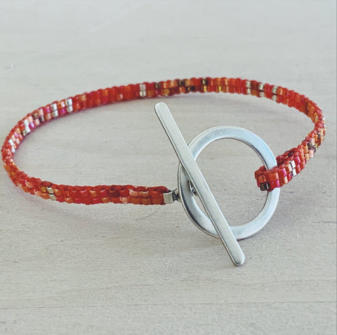 ** FUNDRAISER FOR BEIRUT ** - Glass Bead Bracelet - orange