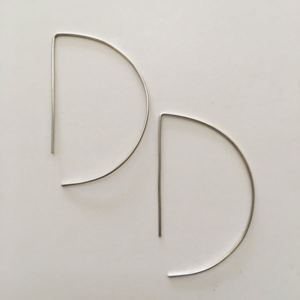 Geometric Earrings- Silver