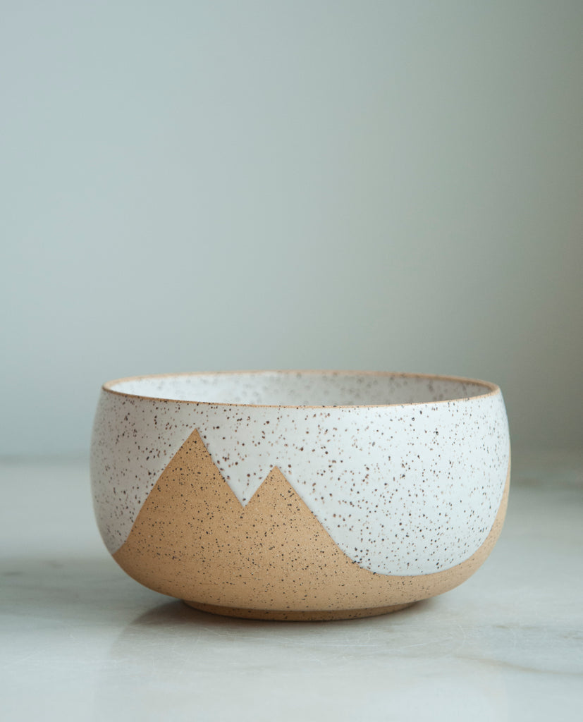 Peaks Medium Bowl- White