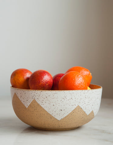 Peaks Serving Bowl- White