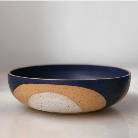 J Miller - Phases Midnight Blue Serving Bowl