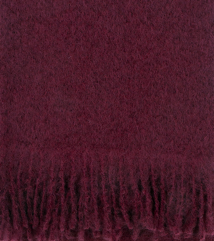 Mohair Blanket- Bordeaux