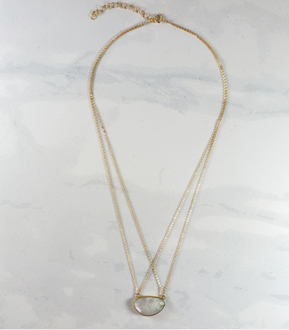 Moonstone Double Strap Necklace