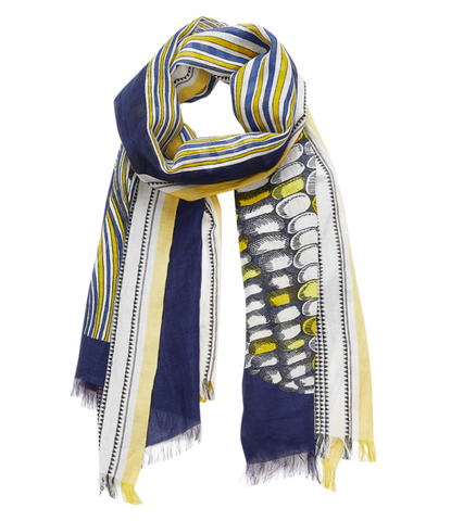 Pop Scarf- Navy