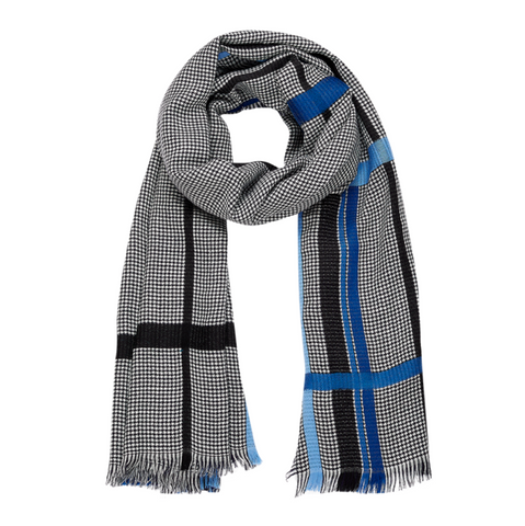 Nicollo Scarf- Blue and Black