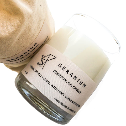 Geranium Candle Hand Poured in Venice, CA