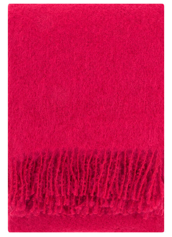 Mohair Blanket- Red