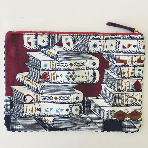 Printed Pouch with books
