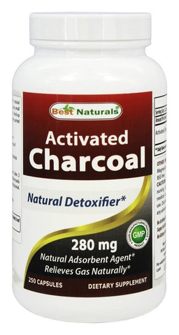 Activated Charcoal 280 mg 250 Capsules