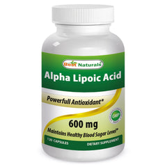 Alpha Lipoic Acid 600 mg Capsules, 120 Count