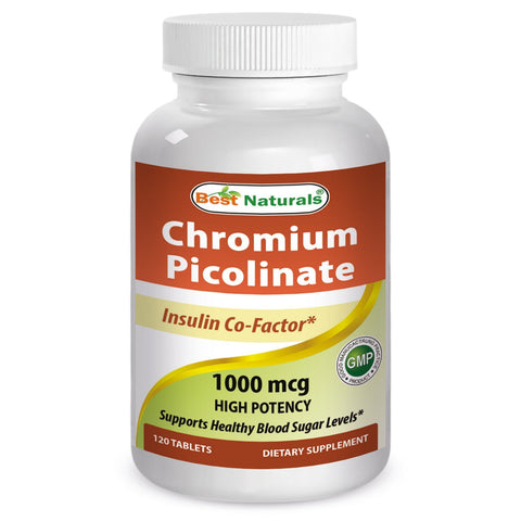 Chromium Picolinate 1000 mcg 120 Tablets