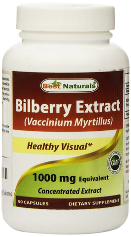 Bilberry Extract 1000 mg 90 Capsules